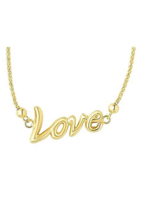 Tia Collections | Metallic 14kt Yellow Gold Bracelet With Shiny Love Center Element | Lyst