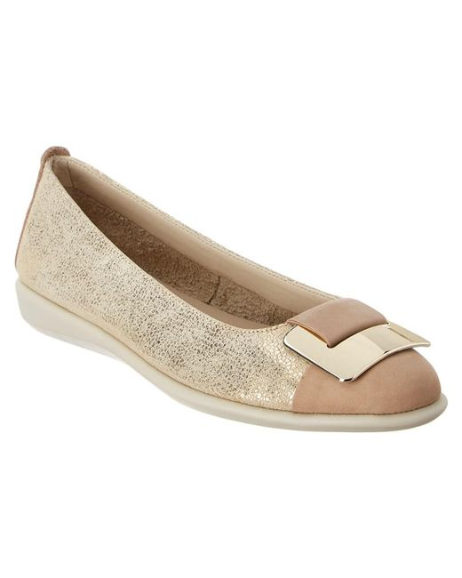 The Flexx - Metallic The Rise N Curry Leather Flat - Lyst