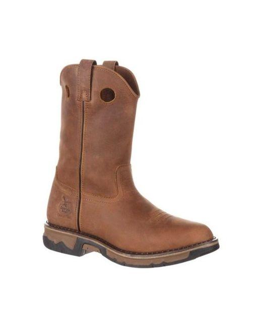 Georgia Boot - Brown Men's Carbo-tec Non-metallic Pull-on Boot for Men - Lyst