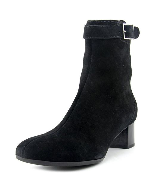 La Canadienne Jasmin Women Square Toe Suede Black Ankle