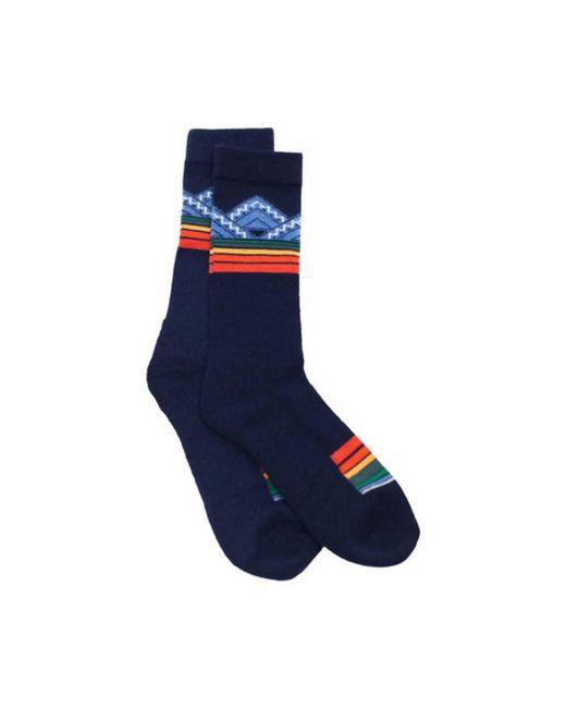 Pendleton - Blue Unisex Merino Jacquard Park 6427 Crew Sock for Men - Lyst