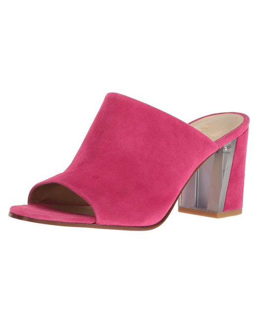 Nine West - Pink Womens Gemily Leather Open Toe Mules - Lyst