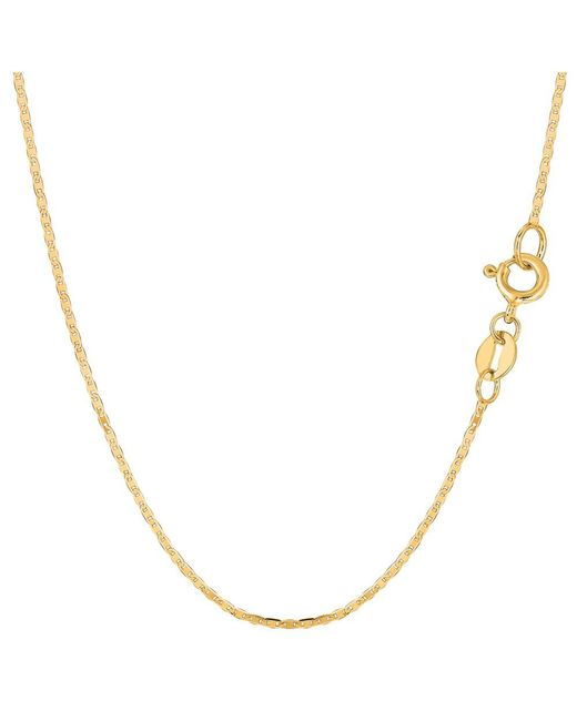 JewelryAffairs - 10k Yellow Gold Mariner Link Chain Necklace, 1.2mm, 20 Inch - Lyst