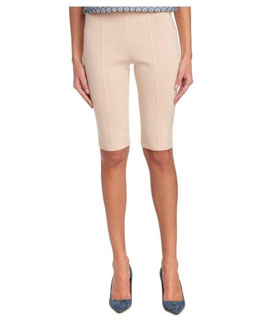 O'2nd | Pink Danni Knit Bermuda Short | Lyst
