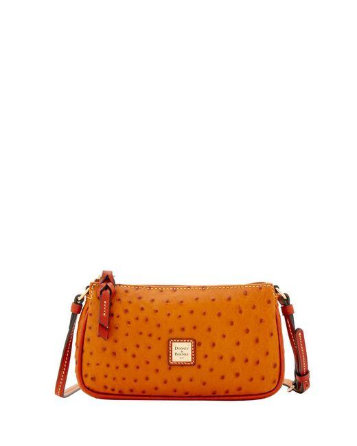 Dooney & Bourke - Orange Ostrich Lexi Crossbody Shoulder Bag - Lyst