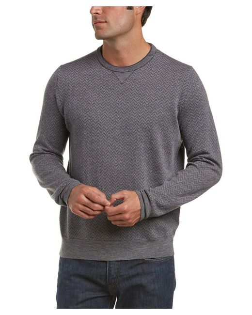 Canali | Black Crewneck Wool Sweater for Men | Lyst
