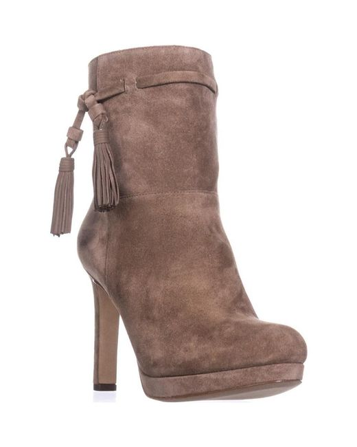 Via Spiga - White Bristol Pull On Tassel Ankle Boots, Dark Taupe - Lyst
