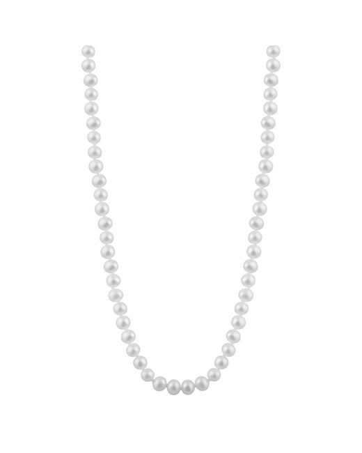 """Splendid - Metallic A Beautiful 6-6.5mm Cultured Freshwater Pearl Necklace, 18"""", Individually Hand Knotted, 14k Yellow Gold Fish Hook Clasp - Lyst"""