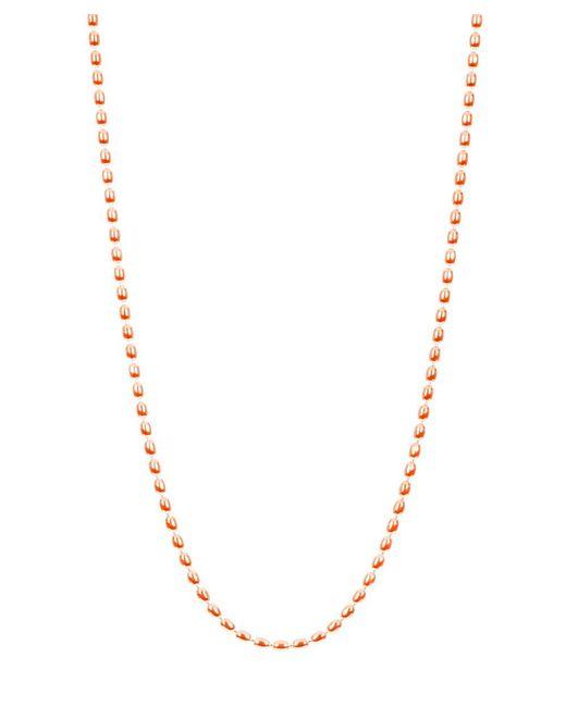 "Barzel | Pink 16"""" 18k Rose Gold Ptd Sterling Silver Ovalbead Chain Necklace | Lyst"