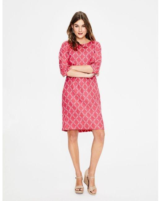 Boden Pink Kate Linen Dress
