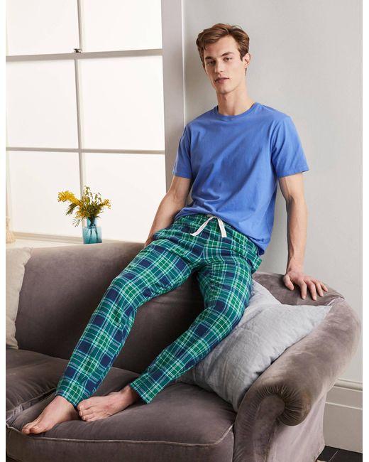 Boden Pyjamahose aus gebürsteter Baumwolle NVM in Blue für Herren