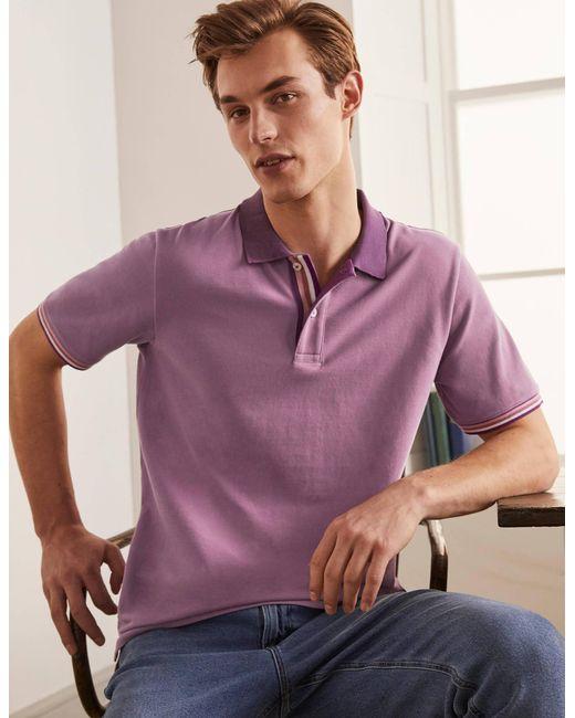 Boden Piqué-Poloshirt LAV in Purple für Herren