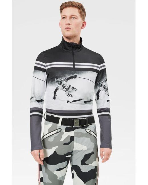Bogner Gray Verti First Layer In Grey/black/white for men
