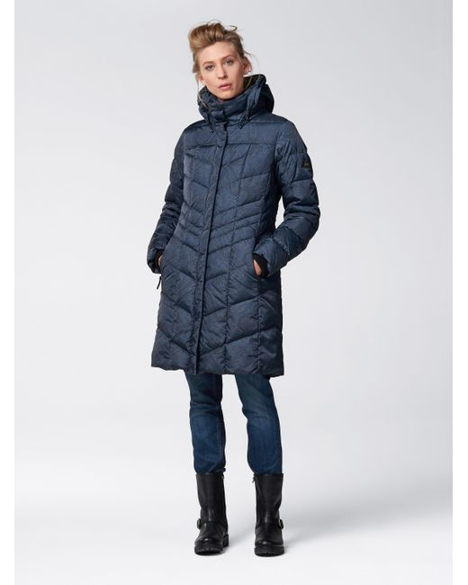 Bogner Down Coat Delia in Blue | Lyst