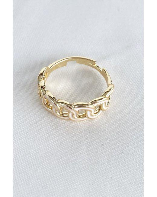 Bold Metallic Gold Adjustable Ring