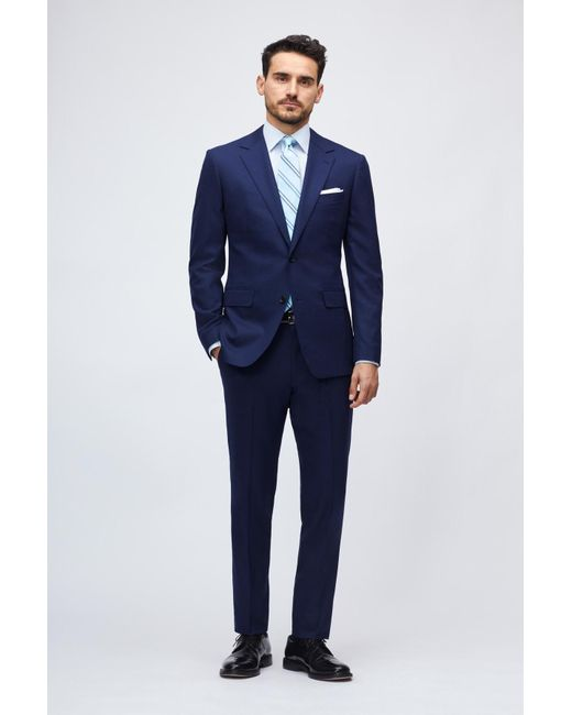 Bonobos Blue Jetsetter Stretch Italian Wool Suit Jacket for men