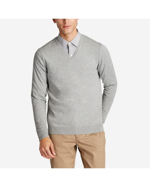 Bonobos - Gray Cotton Cashmere V-neck Sweater for Men - Lyst