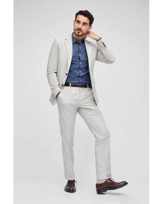 Bonobos Multicolor Foundation Chambray Suit Jacket for men