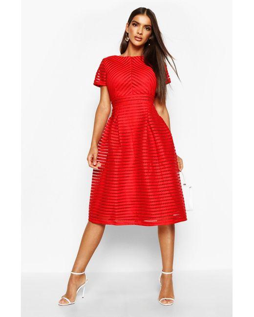 Boohoo Black Zaira Boutique Full Skirted Prom Midi Dress