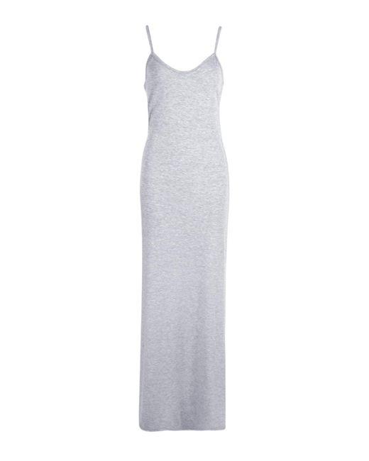 Boohoo Gray Hedda Basic Strappy Cami Maxi Dress