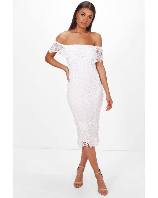 Off the Shoulder White Cocktail Dresses