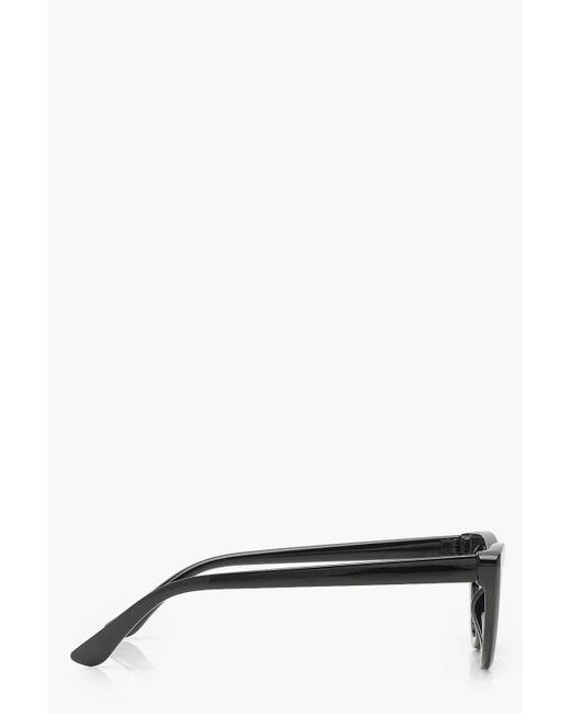 5c2ed67b75 ... Boohoo - Black Slim Extreme Cat Eye Sunglasses - Lyst