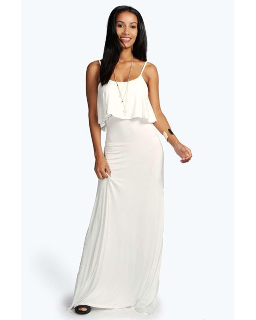 Boohoo Black Tie Back Maxi Dress