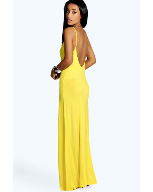 Boohoo | Black Libby Strappy Low Back Maxi Dress | Lyst