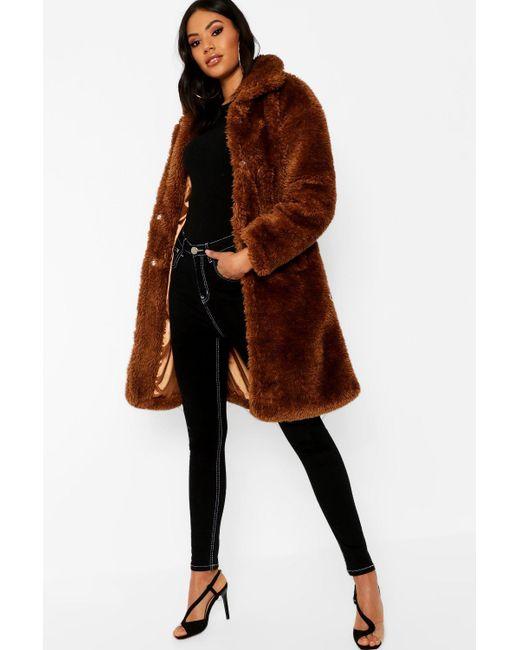 c6fd97b7213c8 Boohoo - Multicolor Premium Oversized Teddy Faux Fur Coat - Lyst ...