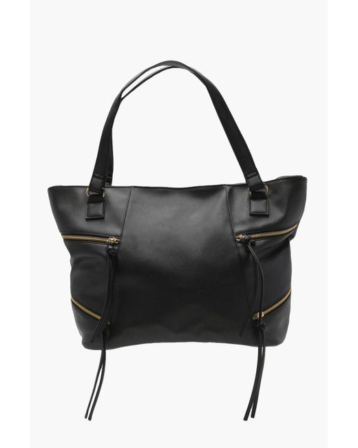 Boohoo - Black Crosshatch Zip Detail Day Bag - Lyst