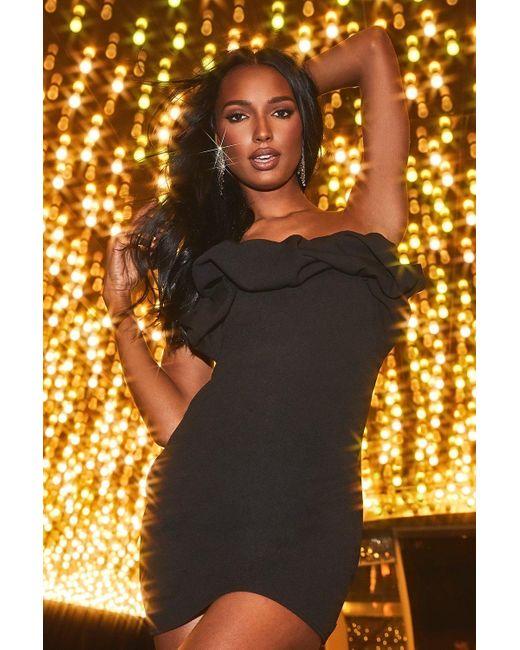 Boohoo Black Womens Recycled Scrunched Mini Dress