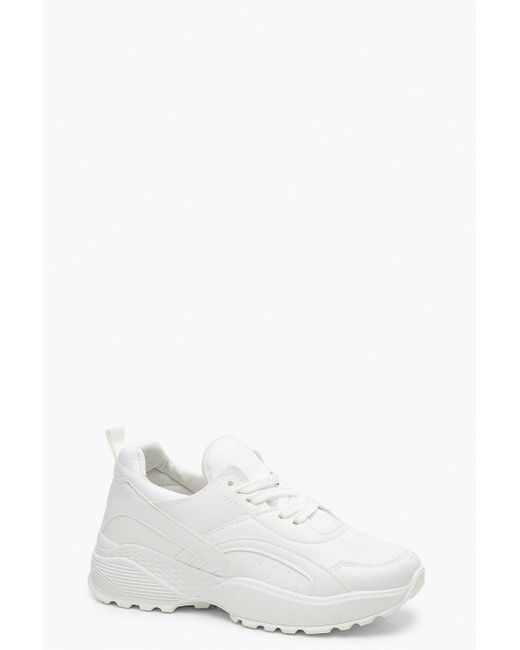 Zapatillas Deportivas Gruesas Estilo Dad Boohoo de color White
