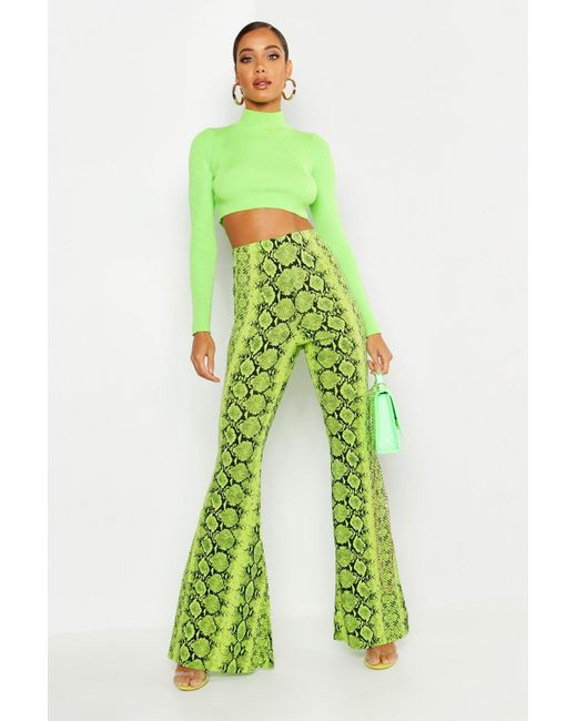 Womens Ladies New Black Multicoloured Neon Floral Printed Palazzo//Trousers//Pants
