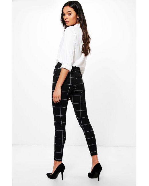 ... Boohoo - Black Ponte Pocket Detail Printed Trousers - Lyst ... ebc110c7c
