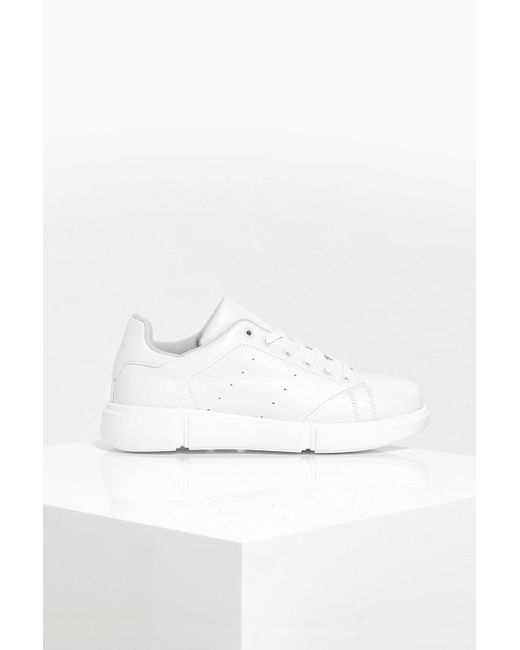 Interest Sole Chunky Trainers in White