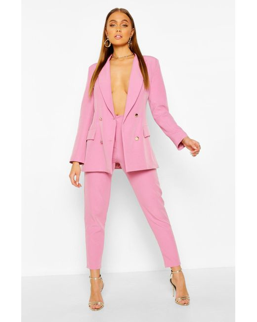 Boohoo Pink Tailored Trouser