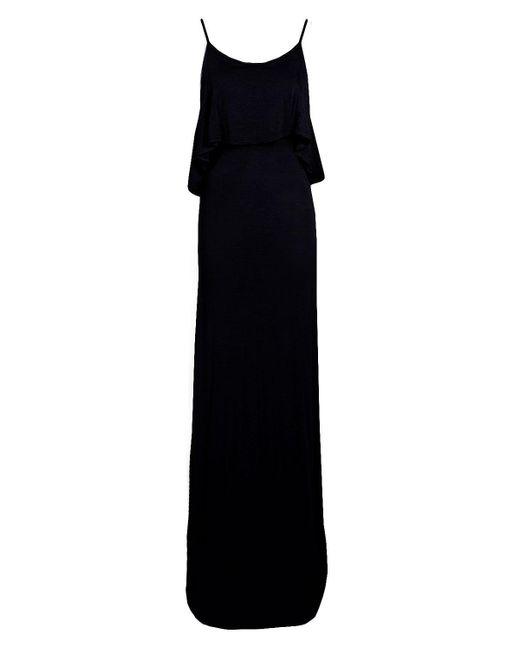 Boohoo Black Tie Back Maxi Dress