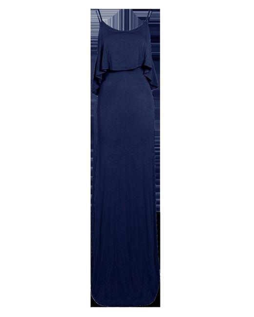 Boohoo Blue Tie Back Maxi Dress