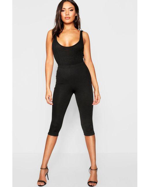 6172f51e36609f Boohoo - Black Croppped Length Skinny Pants - Lyst ...