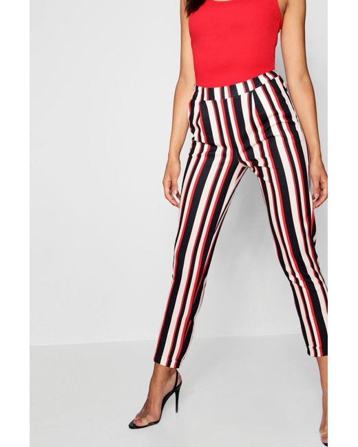 999a31728f893 ... Boohoo - Multicolor Stripe Tailored Trouser - Lyst
