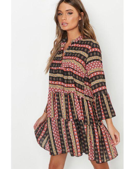 MINKPINK Womens Marrakech Boho Printed Dress