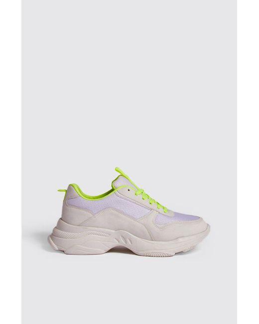 Neon Lining Sneaker Men's White Chunky jVLMpUzqSG
