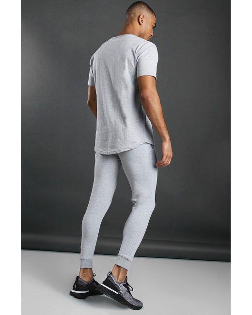 BoohooMAN Gray Short Sleeve Active Gym T-shirt for men
