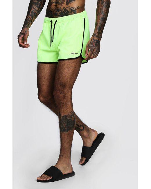 c64b9dea73bb5 BoohooMAN - Multicolor Man Signature Runner Swim Short for Men - Lyst ...
