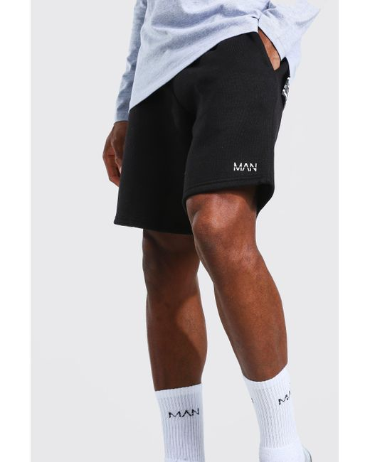 BoohooMAN Multicolor 2 Pack Man Mid Length Regular Jersey Shorts for men