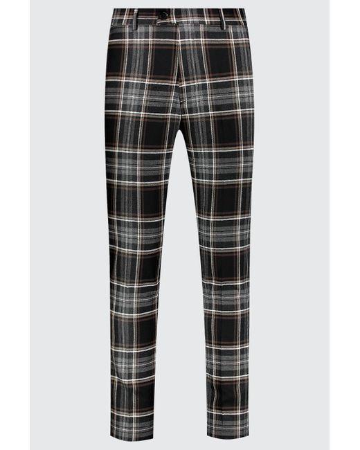 BoohooMAN Pantalon de costume coupe skinny fit à carreaux smart homme de coloris noir 3zHJo