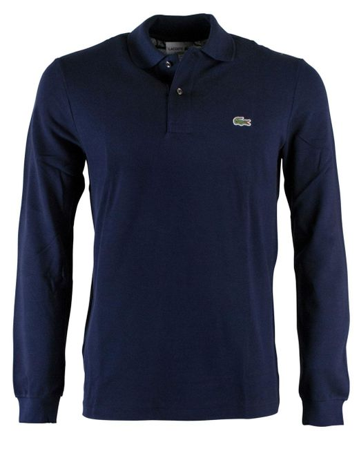 Lacoste Polo Regular Fit Donkerblauw in het Blue voor heren
