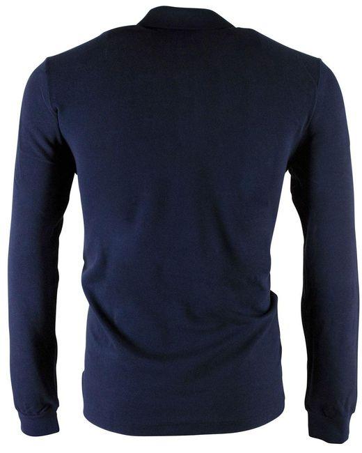 Lacoste Polo Regular Fit Donkerblauw in het Blue voor heren