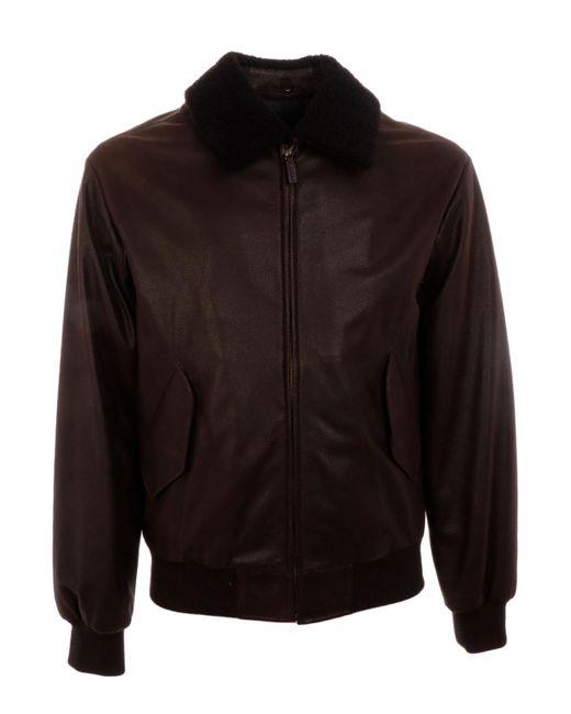 Gant - Black Leather Aviator for Men - Lyst
