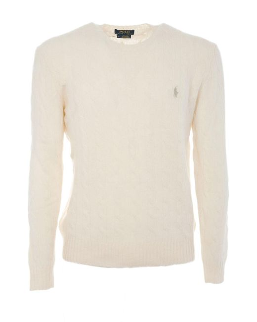 Polo Ralph Lauren - Natural A44 Sweater Cashmere for Men - Lyst